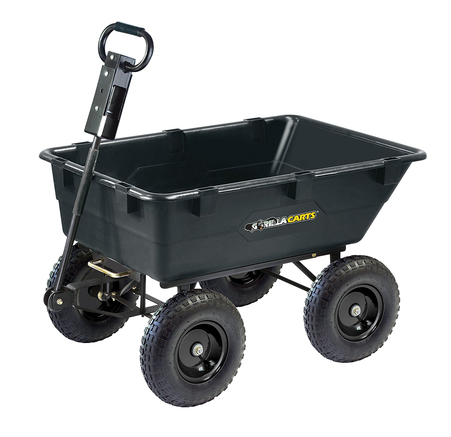 Gorilla Carts Heavy-Duty Garden Poly Dump Cart