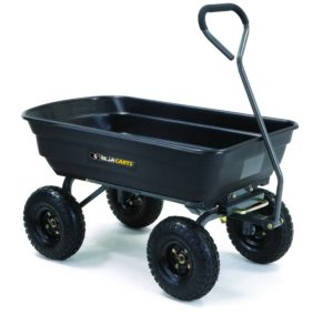 Gorilla Carts Poly Garden Dump Cart with Steel Frame Review