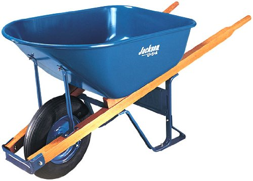 Jackson 6 Cubic Contractor Wheelbarrow