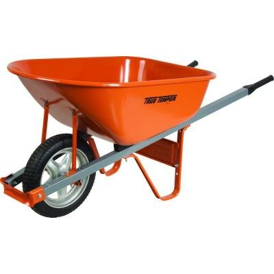 Steel Wheelbarrow with Steel Handles and Flat Free Tire
